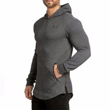 Mens Bodybuilding Hoodies Golds  Wear Clothing Workout Slim Fit Shirts With Hooded Suits Trainingsanzug Sportswear