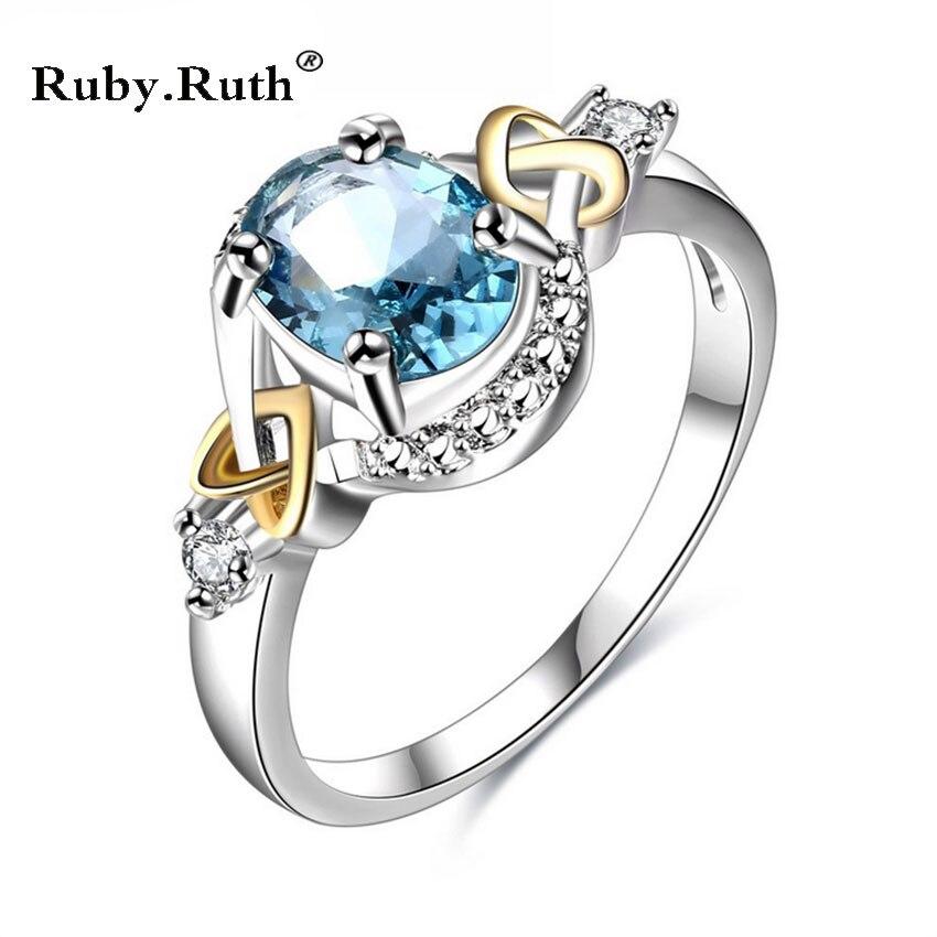 Мода 2017 г. розовый кольцо из белого золота Заполненные Ювелирные изделия из кристаллов обещание Обручальные кольца для Для женщин свадебны...