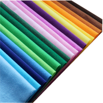 Solid Colors Polyester Loop Fleece Fabric Brushed Velboa Velvet Knit for Patchwork Sewing Plush Felt Cloth DIY Stuff Toy Fabric