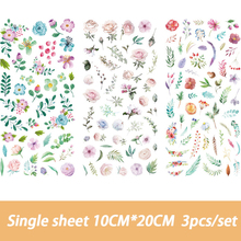3PCS/Set Cute Flowers Totem Memo Stickers Pack Posted It Kawaii Planner Scrapbooking Stickers Stationery Escolar School Supplies