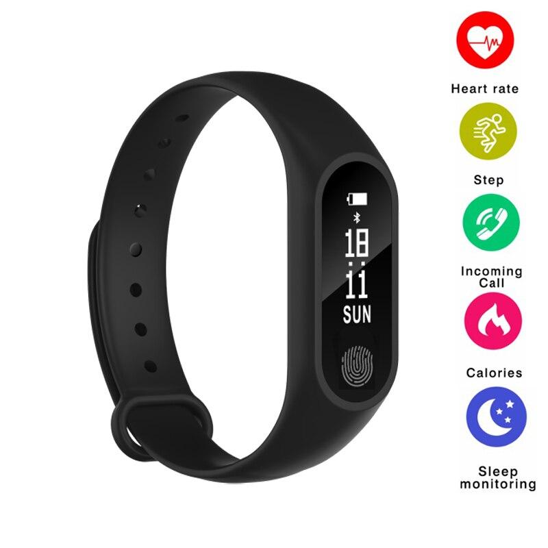 Banda intelligente M2 Intelligente Braccialetto Bluetooth Heart Rate Monitor Smartband Fitness Sonno Tracker Intelligente Banda Wristband per Android IOS