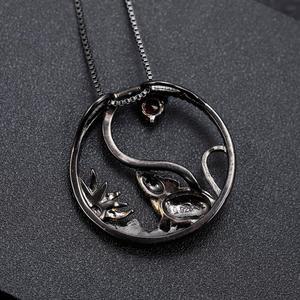 Image 4 - GEMS BALLET Collar de plata de ley 925 hecho a mano con colgante de rata, piedra preciosa amatista Natural, joyería del zodíaco chino para mujeres
