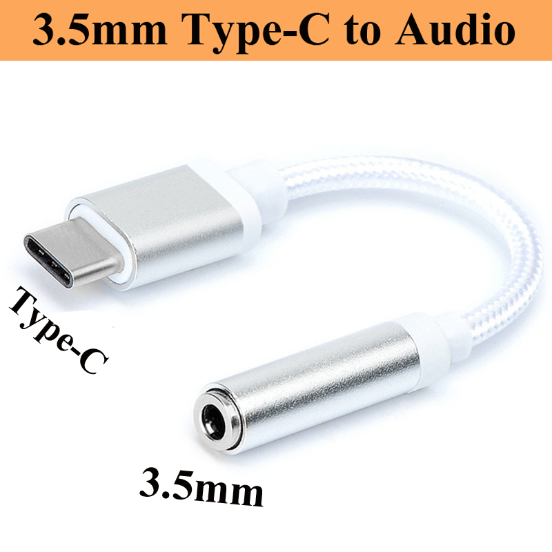 Type-C To 3.5mm Earphone Headset Cable Adapter Type C Plug Audio Cable Adapter For Xiaomi Mi8 Mi6 For Huawei P20 Mate 10 Pro