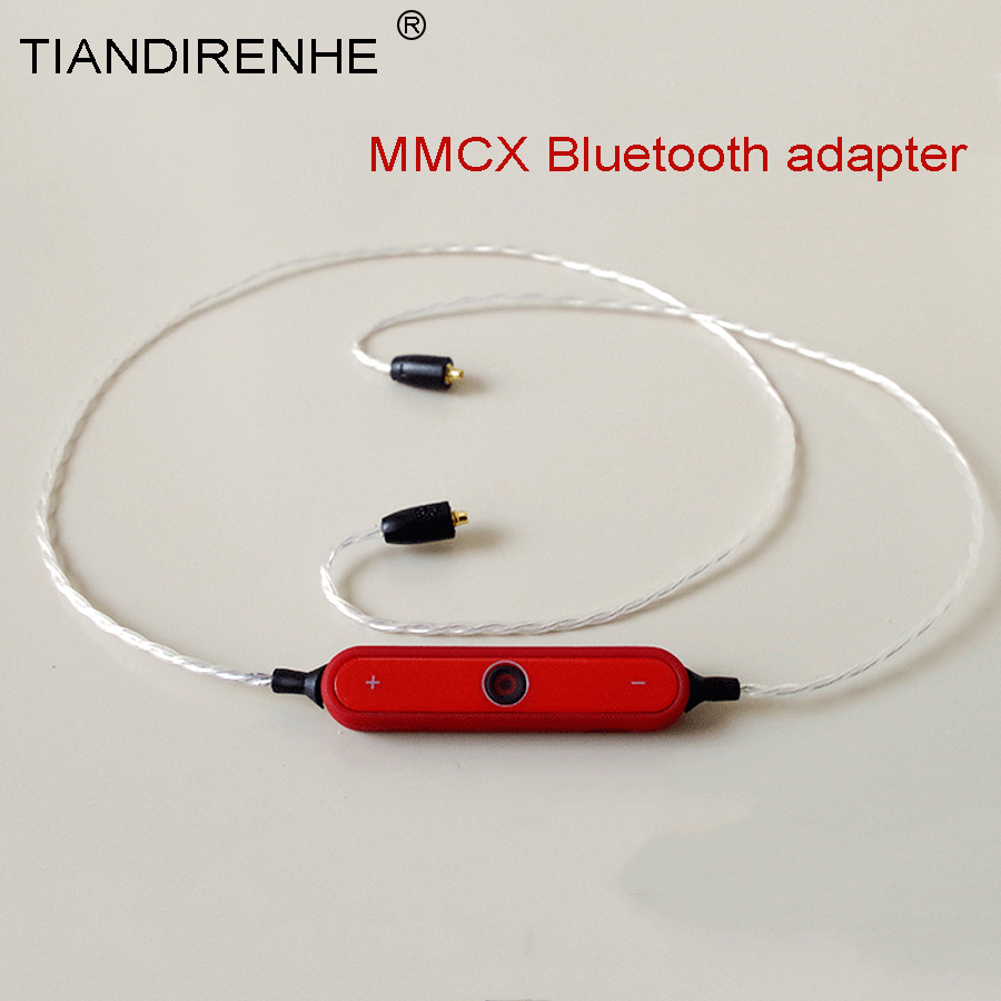 Tiandirenhe 14&28 Cores MMCX Bluetooth Adapter Cable Bluetooth 4.1 with Micphone for Shure SE215 SE535 SE846 Headset Earphone