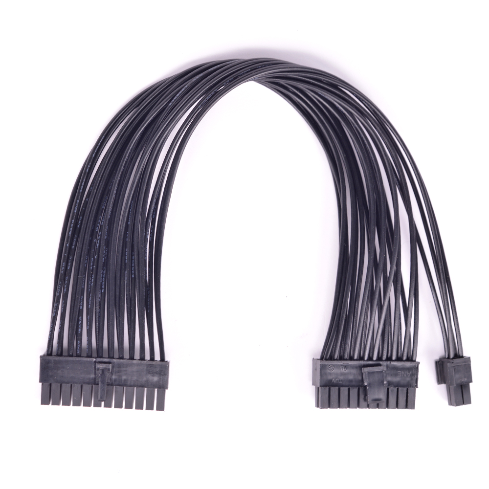24pin to <font><b>20</b></font>+4 <font><b>Pin</b></font> Port Power Supply Cable <font><b>24</b></font> <font><b>Pin</b></font> Male to 24Pin 20Pin Male ATX power <font><b>adapter</b></font> Cable image