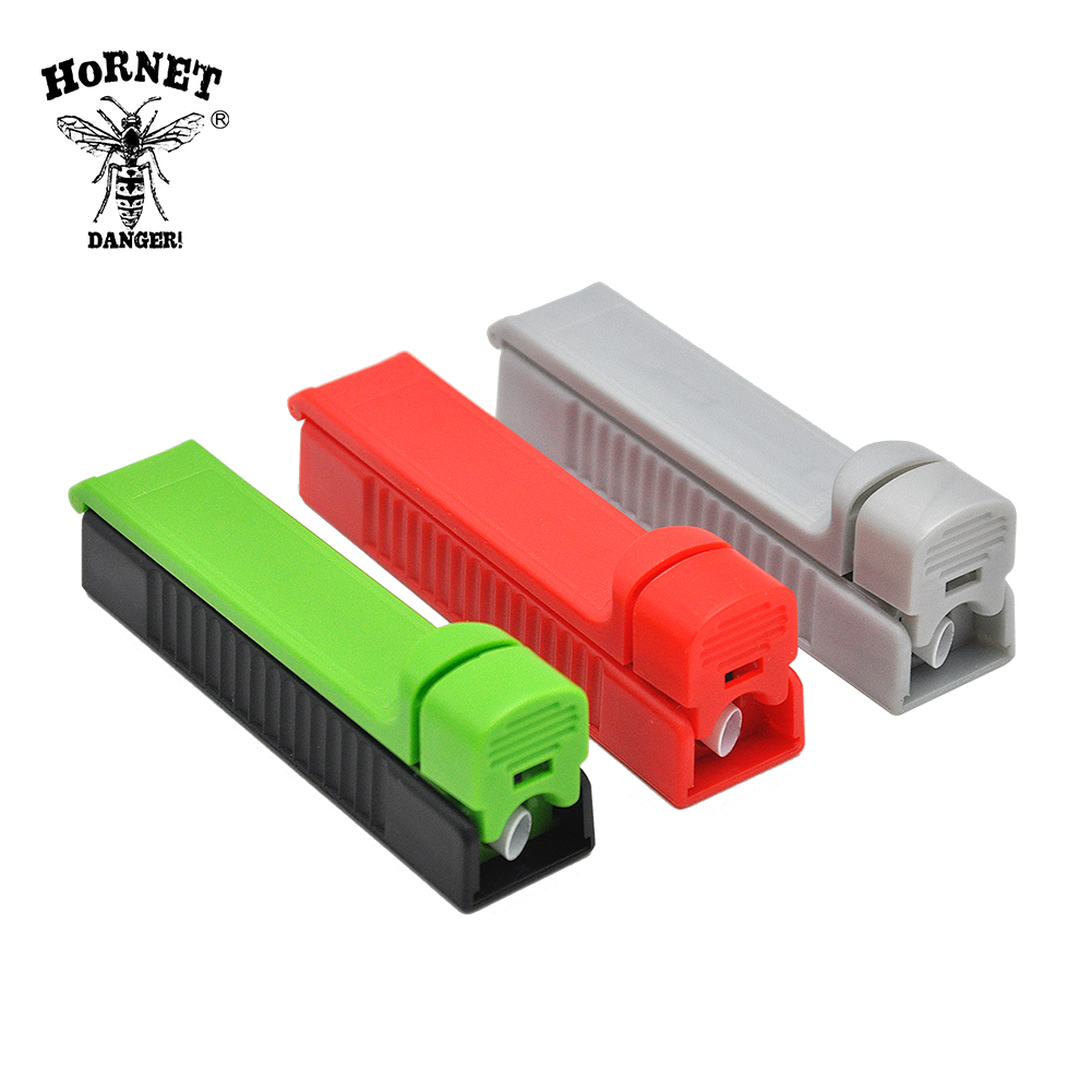 HORNET DANGER Plastic Rolling Injector Manual Single Tube Tobacco Roller Cigarette Maker Portable Rolling Machine