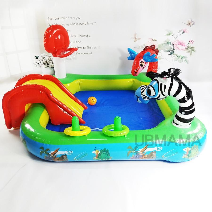 multifunctional high quality color slide baby animal lovely pool basketball pool children. Black Bedroom Furniture Sets. Home Design Ideas