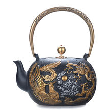 Высококачественный чугунный Ретро чайник китайское украшение