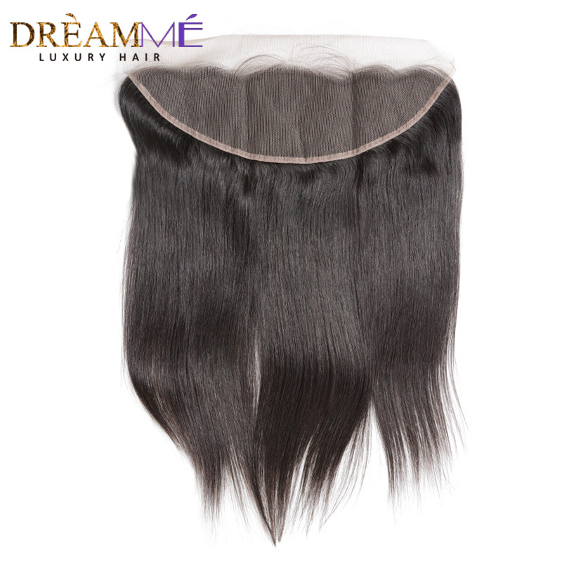 Dreamme Ear to Ear Lace Frontal Closure 13X4 Free Part With Baby Hair Pre Plucked Brazilian