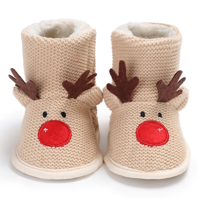 Baby Shoes Child Boot Newborn Thick Fur Booties Girls Boys Super Warm Winter Baby Ankle Snow Boots Infant Kids First Walker0-18m