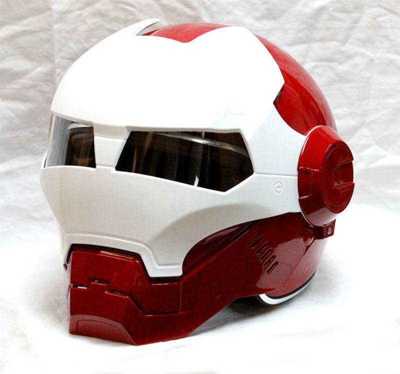MASEI IRONMAN fer homme casque moto casque 610 demi casque visage ouvert casque ABS casque motocross rouge blanc livraison gratuite