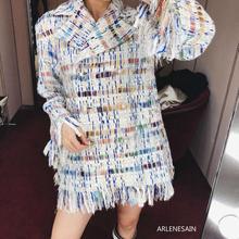 Arlenesain personalizado 2019 nueva chaqueta de mujer con borlas de moda