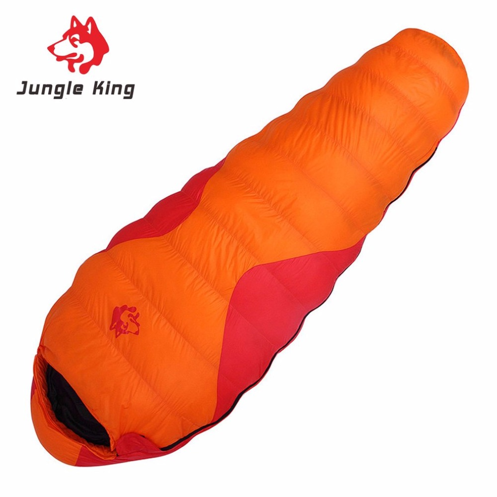 Jungle King CY-660 Professional Duck Down Sleeping Bag Keep Warm Adult Camping Hiking Travel Envelope Style Sleeping Bag шляпа huf duck jungle camo olive
