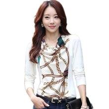 Elegant Cotton Blouses Feminine XXXXL Plus Size Ladies Shirts Womens Clothing Print Blouse Slim Tops Chiffon