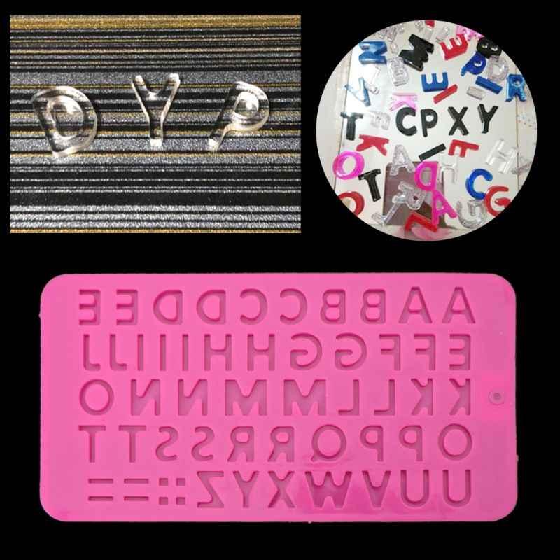 26 الحروف الأبجدية علبة مكعبات الثلج قالب من السيليكون صنع المجوهرات أداة للحرف اليدوية 20.5x11x0.3 سنتيمتر راتنج بها بنفسك راتنج الإيبوكسي النقي قوالب للمجوهرات