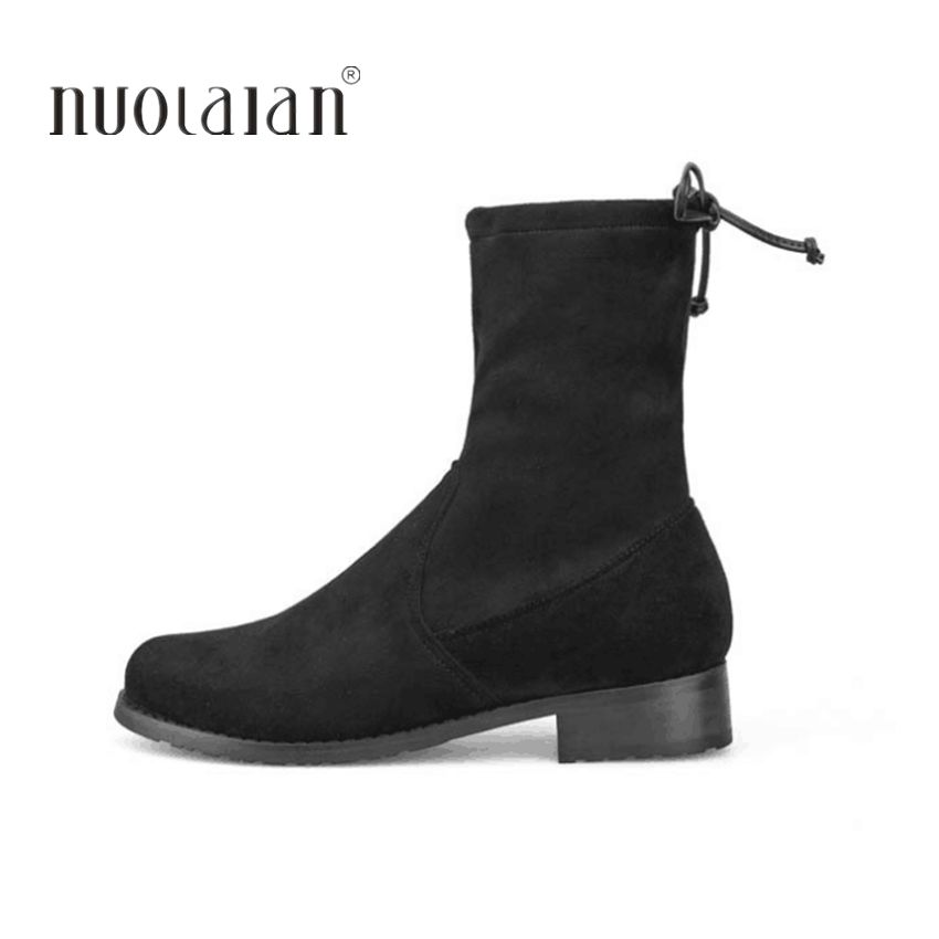 2018 Et 4 Black Chaussures Automne Plus Sdxw2 Taille 11 Femme Marque Cheville Femmes Daim Fourrure Neige En Pour Bottes Cuir Hiver rrTwRAWqf6