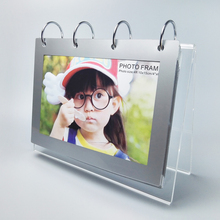 (5 units/paack) V shape desktop clear Acrylic Calendar stand For Christams Gifts YCD-002