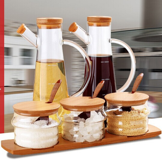 Brand Kitchen Food Storage Set for Oil/ Vinegar/ Salt / Sugar ...