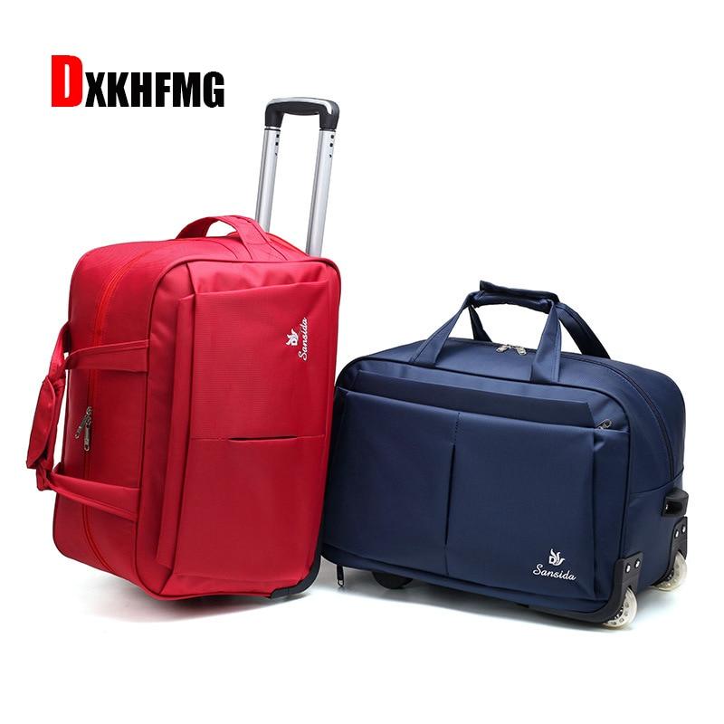 Fashion Luggage Trolley Bag Female Travel Trolley Unisex Bag Large Capacity Travel Bag with Wheel Suitcase Luggage Duffle Bag