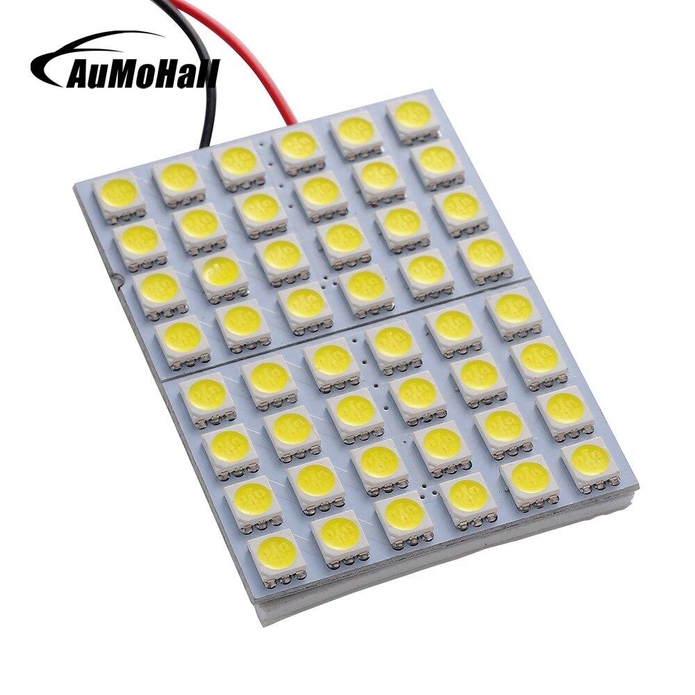 AuMoHall 1шт 5050 48SMD светодиодные источника света автомобиля лампа для чтения панели салона 12В света