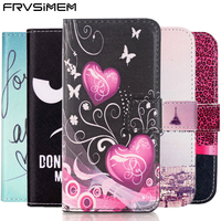 Fashion Painted Flip Case Wallet Leather Cover For Iphone Samsung Galaxy 4s 5C 5s SE 6