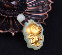 Natural Grade AAA Charms Beads The 12 Chinese Zodiacs Pendant Fashion Charms Tranfer Beads Pendants Necklace