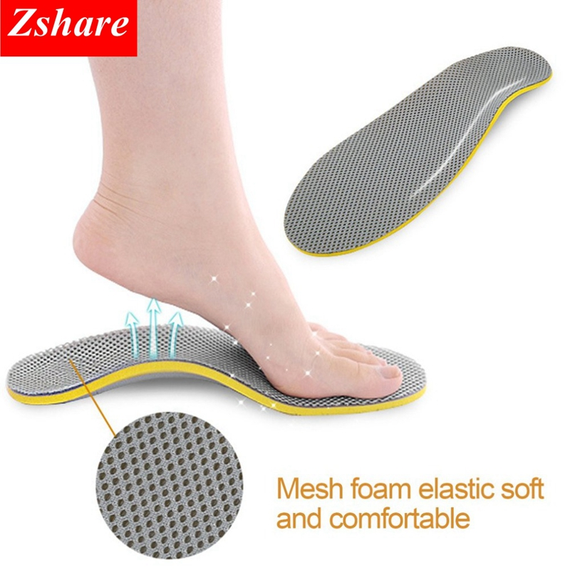 Orthopedic Insoles 3D Flatfoot Flat Foot Orthotic Arch Support Insoles High Arch Shoe Pad Insole Accessories For Unisex HD3