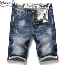 Mwxsd Brand summer Mens Denim Shorts Men Cotton Jeans Shorts Men soft Thin Section Elastic jean short pant homme black blue 2016 summer brand mens jeans shorts plus size black blue stretch thin denim jeans short for men pants free shipping page 1