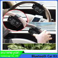 2016 New Car Universal Steering Wheel Wireless Bluetooth Hands-Free Kit With Speaker&FM Function USB/SD/MMC Handsfree MP3 Player
