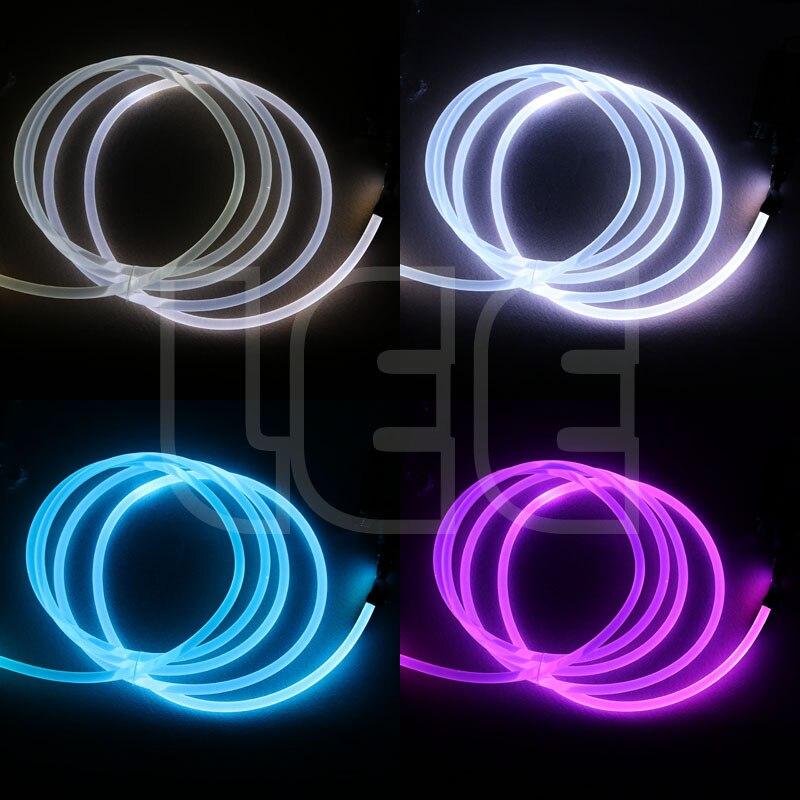 Image 5 - 5mX прозрачная сторона свечения пластик PMMA волоконно оптический кабель твердого сердцевина оптического кабеля диаметр 1,5 мм/2 мм/3 мм/4 мм/6 мм/8 мм Бесплатная доставка-in Оптоволоконные лампы from Лампы и освещение on