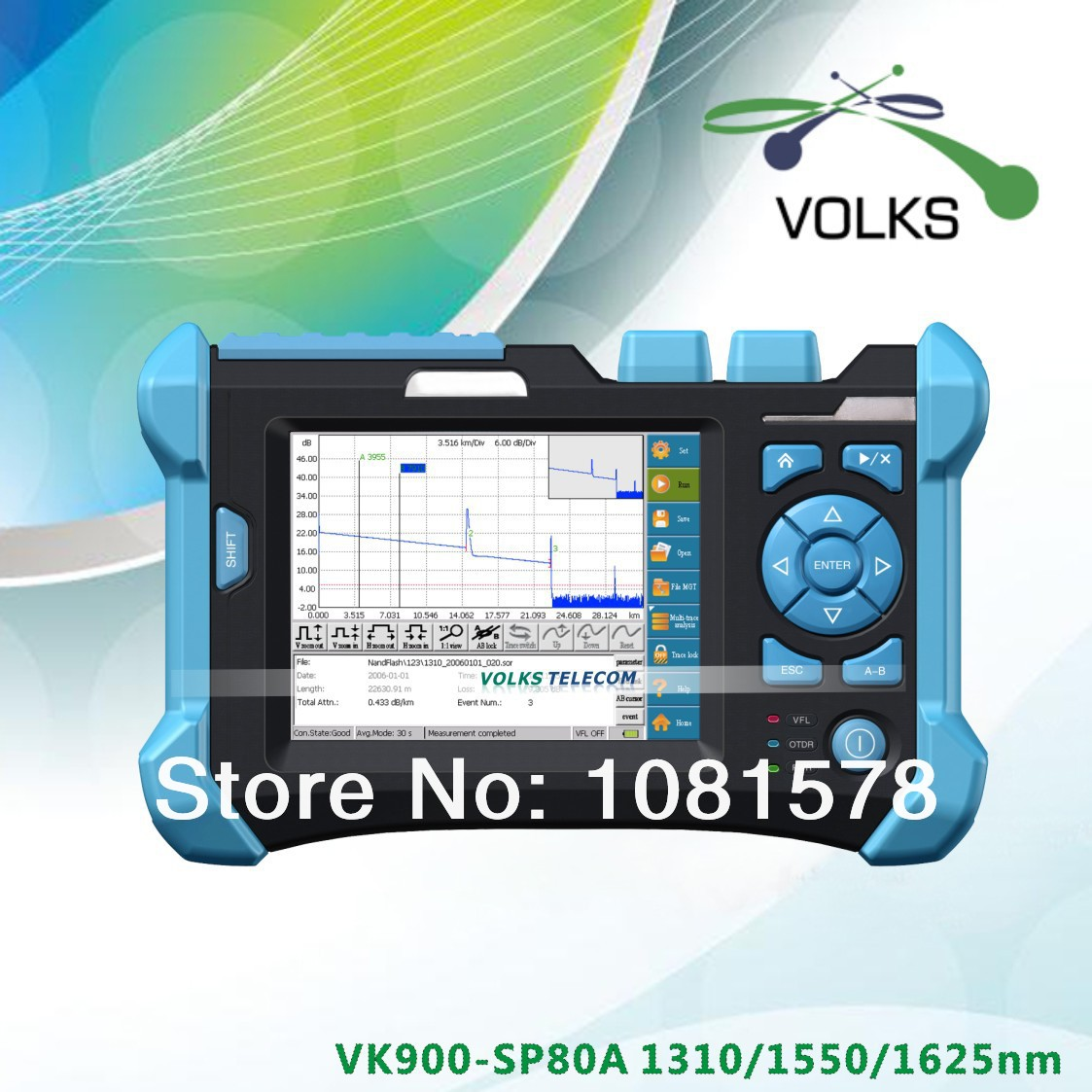1310/1550/1625nm OTDR 32/30/30dB Optical Time Domain Reflectometer ...