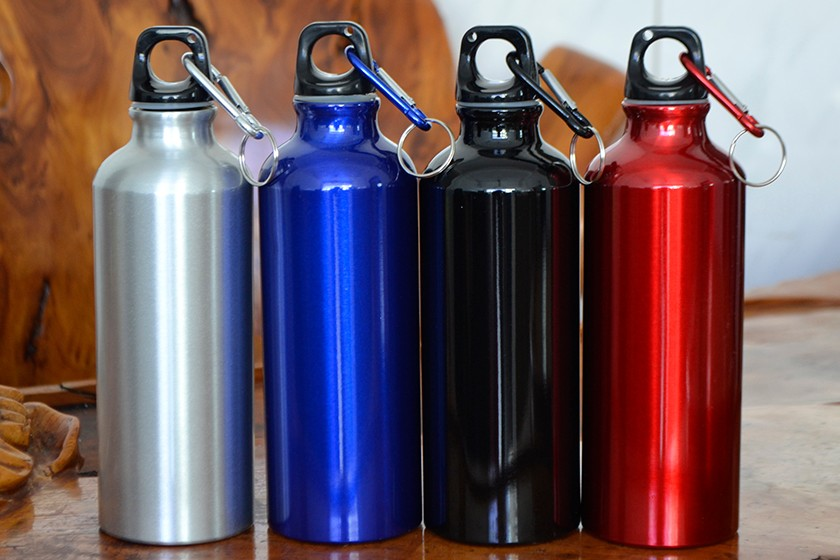 500ml Aluminum Alloy Drinking Drinkware Kettle Sports Camping Hiking Cycling Climbing Bicycle My Water Bottle With Carabiner 1Pc