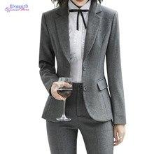 2020 trajes de pantalón negro para mujer, chaqueta de trabajo, pantalones, pantalones casuales de moda, Blazer, conjunto de ropa de oficina para mujer, ropa de talla grande
