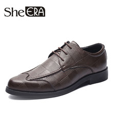 2019 New Arrival Luxury Men's Formal Business Shoes High Quality Pointed Dress Shoes Size 38-44 Oxfords Leather Men Shoes Drop(China)