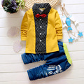 2016 Fashion autumn Baby Boy Clothing Set kids Clothes set Gentleman Suit Boys long Sleeve T-shirt + Pants children Clothing Set