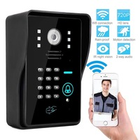 Door Bell WIFI Video Door Phone Intercom Night Vision WiFi Monitor for Android/IOS Phone APP Control ID Card Keypads Unclock