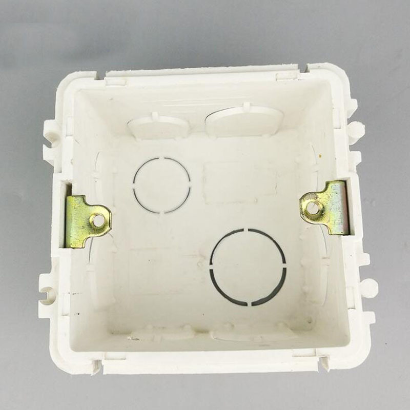 10pcs Residential 86 Model PVC type Outlet Junction Box Electrical Accessories Socket Flush Mounting Box Case in Electrical Sockets from Home Improvement