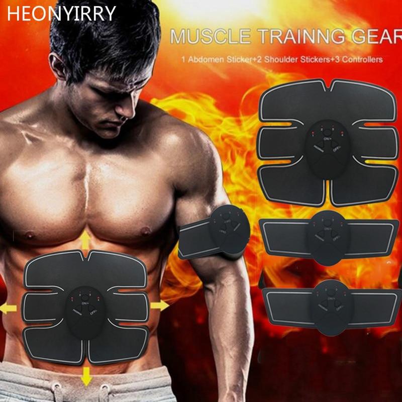 Electric EMS Muscle Stimulator Machine Body Slimming Abdominal Stimulator Exercise Burn Fat Arm Waist Stimulator Face Lift Tool все цены