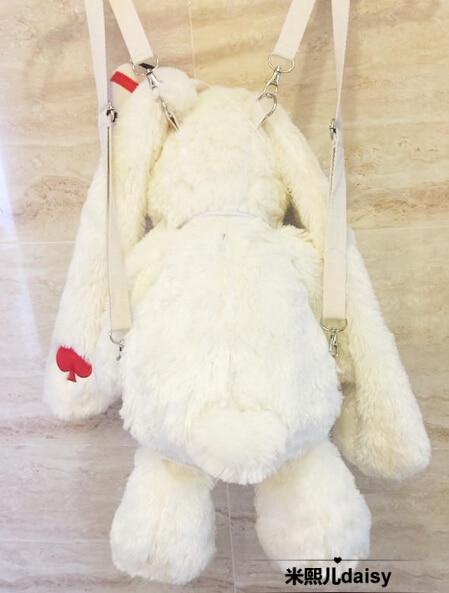 "20 ""amuse pote loppy 토끼 봉제 인형 배낭 로리타 소녀 숄더 백 선물-에서백팩부터 수화물 & 가방 의  그룹 3"