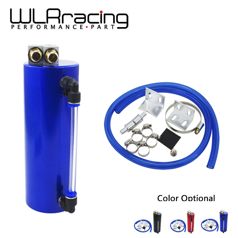 WLR RACING Universal Aluminum Racing Oil Catch Tank / CAN Round Can Reservoir Turbo Oil Catch can / Can Catch Tank WLR-TK62 все цены