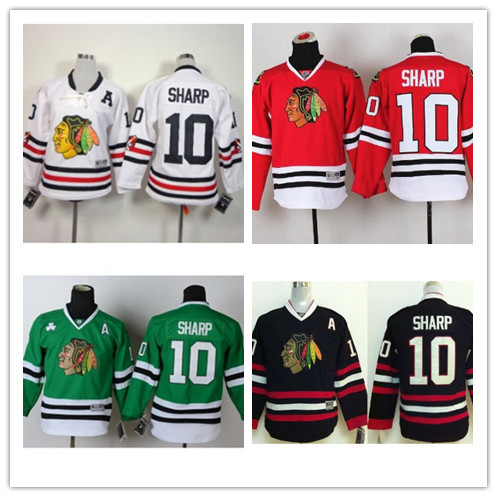 mens chicago blackhawks 10 patrick sharp green jersey w 2015 stanley cup champion patch