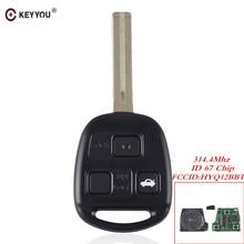 KEYYOU Für Lexus RX350 RX450h RX400h RX330 EX330 2004 2010 Fern Eintrag Zündung Power Key Fob 3 Tasten HYQ12BBT 4D67 315Mhz