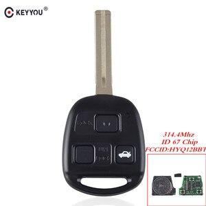 Image 1 - KEYYOU Für Lexus RX350 RX450h RX400h RX330 EX330 2004 2010 Fern Eintrag Zündung Power Key Fob 3 Tasten HYQ12BBT 4D67 315Mhz