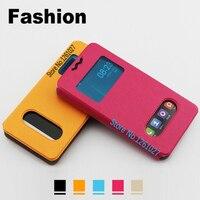 ZTE Grand X 3 Cases Cover PU Leather 5.5 inch Case For ZTE Grand X 3 case Universal 2 Window Flip Stent Cover