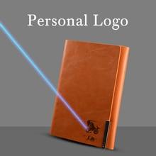 Paperboat Vintage Leather A5 Loose Leaf Notebook Logo Custom