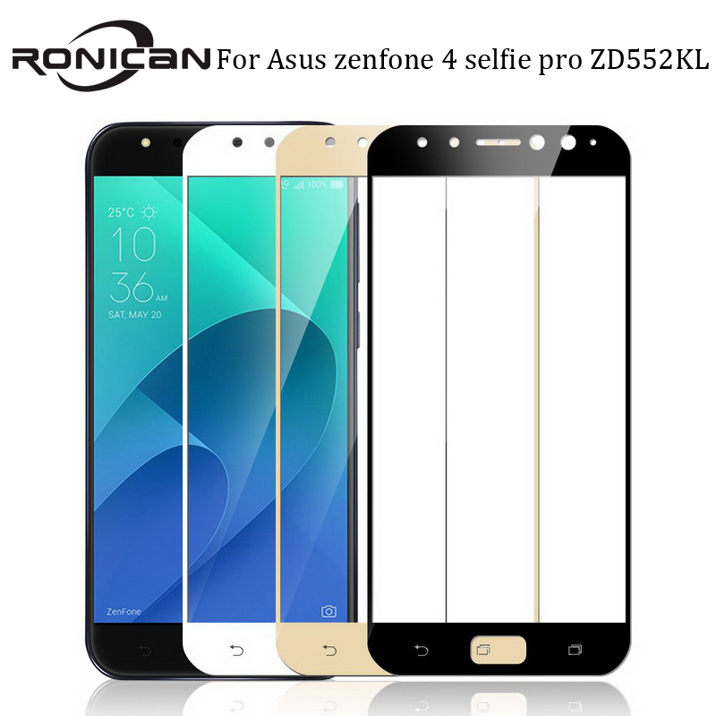 For Asus Zenfone 4 Selfie Pro ZD552KL Tempered Glass RONICAN Full Cover Screen Protector ZD552KL Glass Tempered Protective