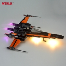 MTELE Brand LED Light Up Kit For Blocks Star Wars Poe's X-Wing Fighter Building Block Light Set Compatible With Lego 75102
