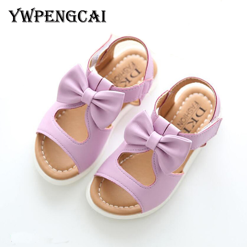 YWPENGCAI Baby Toddler Girl Summer Shoes Size 22-37 Cut-outs Sweet Bowtie Girls Sandals #7KU0137