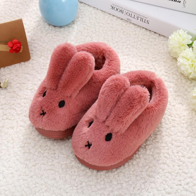 Haben Sie Einen Fragenden Verstand Jufoyu 2019 Neue Kleinkind Baby Hause Hausschuhe Mädchen Niedlichen Cartoon Kaninchen Baumwolle Schuhe Winter Kinder Halten Warme Hausschuhe