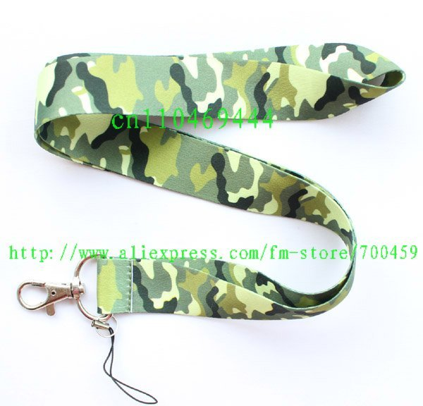 1pc green camouflage for Mobile Phone LANYARD Neck Strap Charms